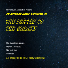 The Battle of the Galaxy Donations Flyer