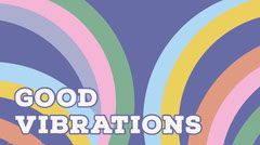good vibrations twitter banner  Typography