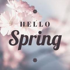 Hello Spring Instagram Square Flowers