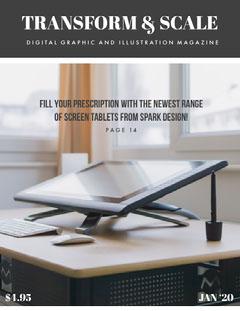 Graphic Design and Illustration Magazine Cover  Designer