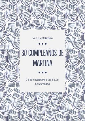 30 cumpleaños de <BR>Martina  Invitación de fiesta