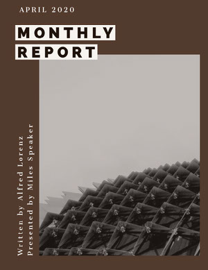 Brown and Gray Geometric Monthly Business Report Rapporto