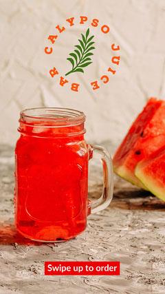 Red Watermelon Juice Bar Instagram Story Ad Juice