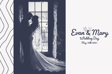 Floral Evan Wedding Picture book Book Cover