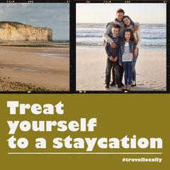 Green Film Frame Staycation Promotion Instagram Square Frame