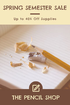 Yellow Brown Spring Semester Sale Offer Promo Pinterest  Promotion