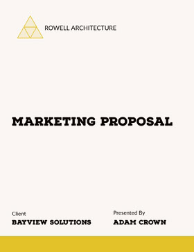 Yellow Marketing Business Proposal with Company Logo 提案報告