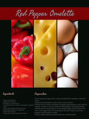 Red Pepper Omelette Recipe Card 食譜卡