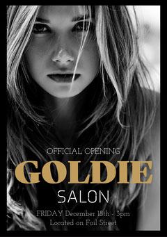 Black & White Salon Launch A5 Flyer Beauty Salon