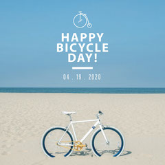 Happy Bicycle Day Instagram Square Bike