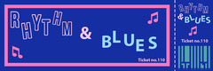 Blue Rhythm and Blues Concert Ticket Concert Ticket