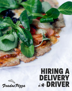 Hiring delivery Pizza driver IG Portrait Pizza
