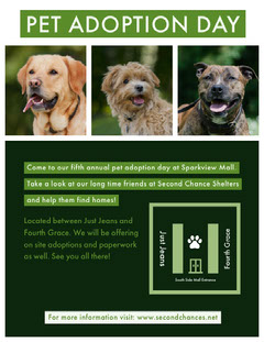 Green and White Collage Pet Adoption Day Poster  Dog Adoption Flyer