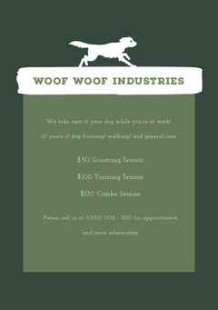 WOOF WOOF INDUSTRIES Dog Flyer