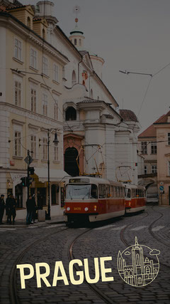 Filtered Image of Train in Prague Snapchat Geo Filter Hotels