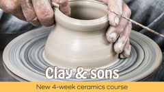 Grey Yellow Clay & sons Ceramics Course Twitter Post Educational Course