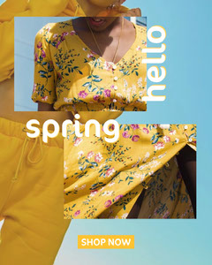 Hello Spring Instagram Portrait  Hello