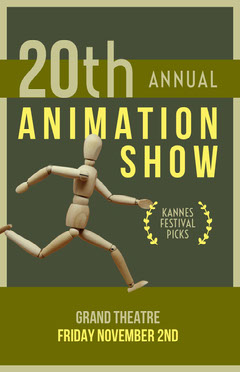 Green and Yellow Animation Show Poster Film Festival Poster