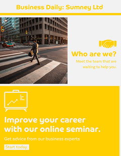 Yellow Business Daily Newsletter Career Poster