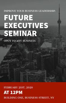 Black and White Executives Seminar Poster Poster