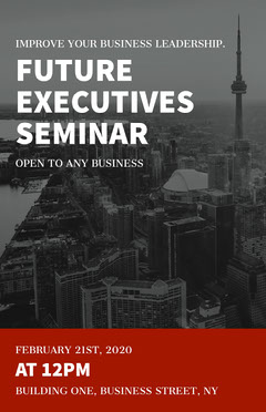 executives seminar poster Seminar Flyer