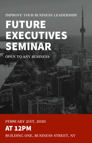 Black and White Executives Seminar Poster Signage