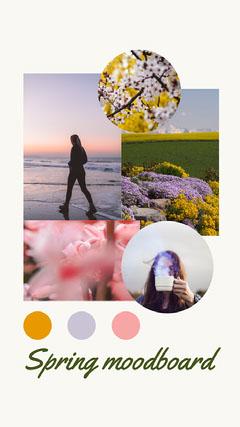 White Spring Moodboard Instagram Story Spring