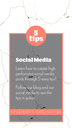 Social Media Tips and Tricks Blog Instagram Story Social Media Flyer