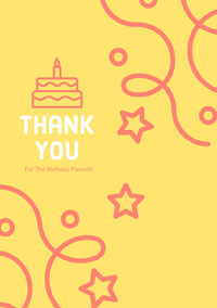 Pink and Yellow Tank You Card Thank You Card