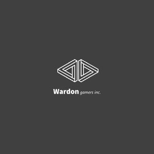 Gray and White Geometric Gamer Logo Game Logo