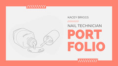Pink Border with Nail Polish Icon Portfolio Cover Border