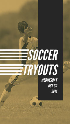 try outs poster Soccer