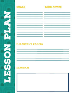 Turquoise School Lesson Plan Education