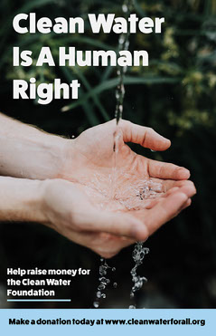 Blue Clean Water Poster Fundraiser