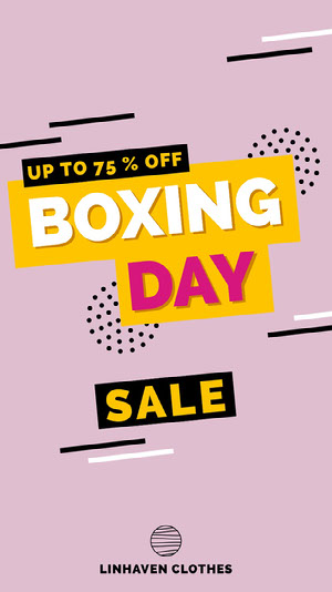 Pink and Yellow Boxing Day Sale Instagram Story  Black Friday