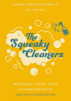 squeaky cleaners flyer a5 Cleaning Service