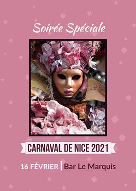 Purple Nice Carnival Card   Flyer événement