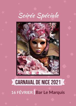 Purple Nice Carnival Card   Affiche événementielle