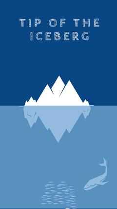 Blue and White Iceberg Desktop Wallpaper Background