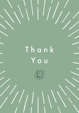 Green and White Thank You Card Tarjeta de agradecimiento