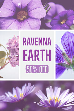 Violet and Blue Ravenna Earth Discount Pinterest  Earth
