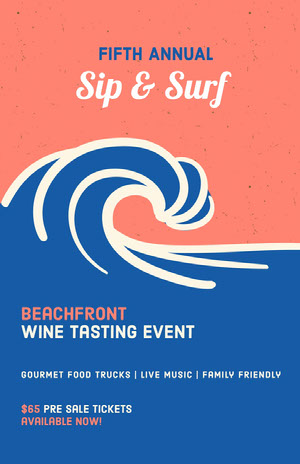 Wine Tasting Event Poster Evenementposter