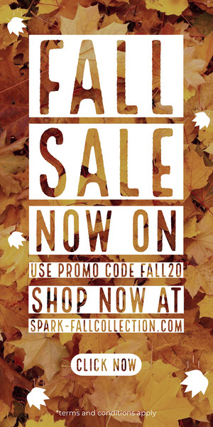 White and Brown Fall Sale Advertisement Flyer de anúncio