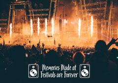 Festival Memories Postcard  Festival