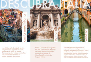 discover Italy travel brochures  Panfleto