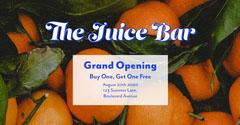 Orange Blue Fruit Juice Bar Opening Facebook  Juice