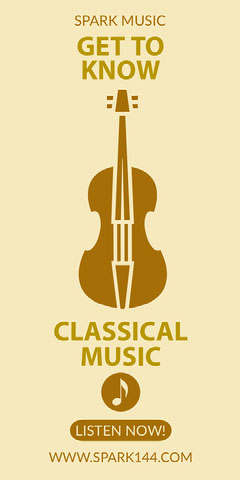 Yellow and Light Toned Classical Music Online Ad Instagram Story Music