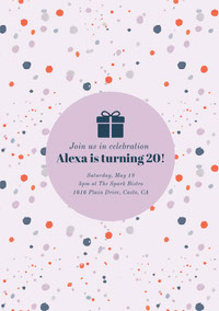 Alexa is turning 20! Birthday  Invitation