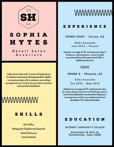 SH Best Fonts for Your Résumé
