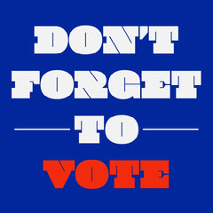 Blue & White Vote Text Instagram Square Election